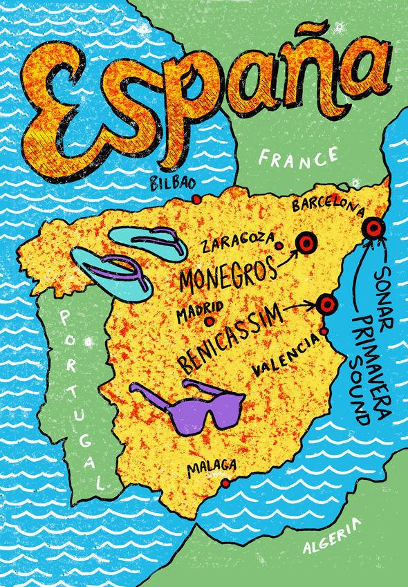 Карта для Испанского фестиваля. Изображение № 6.