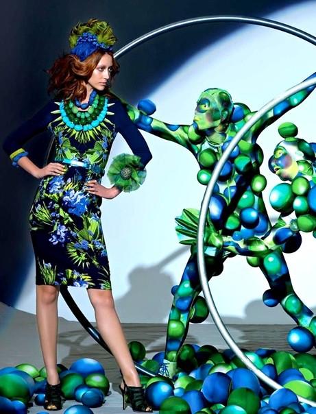 Алана Циммер и Кристал Рэн для Vogue Russia. Изображение № 7.