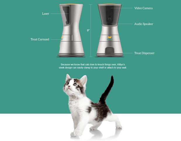 Девайс Kittyo позволит играть с котом, находясь вне дома. Изображение № 1.