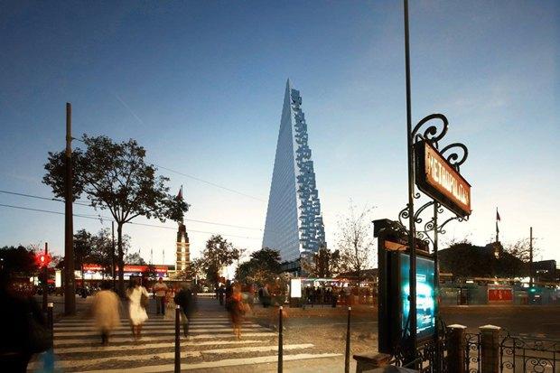 В Париже согласились строить небоскрёб-треугольник. Изображение № 8.