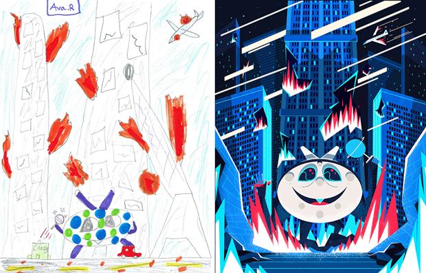 Художники создали монстров наоснове детских рисунков. Изображение № 19.