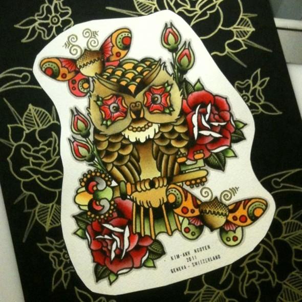 Kim-Anh Nguyen-Dinh : От рисунка к татуировке. Изображение № 10.