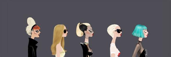 Иллюстрации образов Lady Gaga от Adrian Valencia. Изображение № 17.