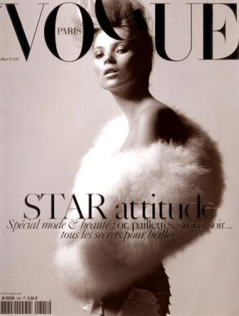 Кейт Мосс, наобложках главных модных журналов планеты. Изображение № 16.
