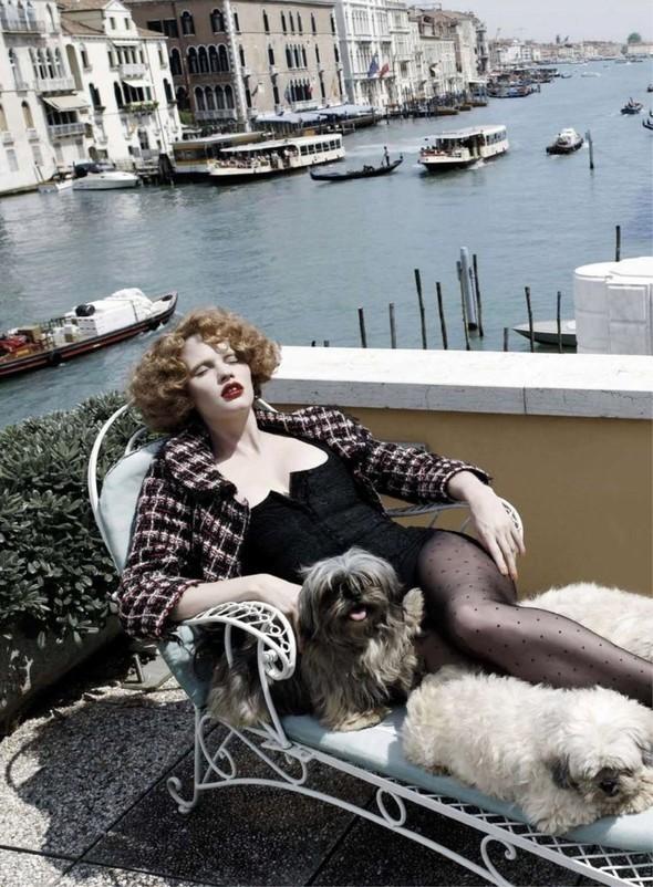 Lara Stone: Harper's Bazaar, September 2009. Изображение № 6.