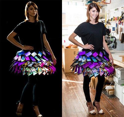 Создана первая в мире юбка из смартфонов. Изображение № 2.