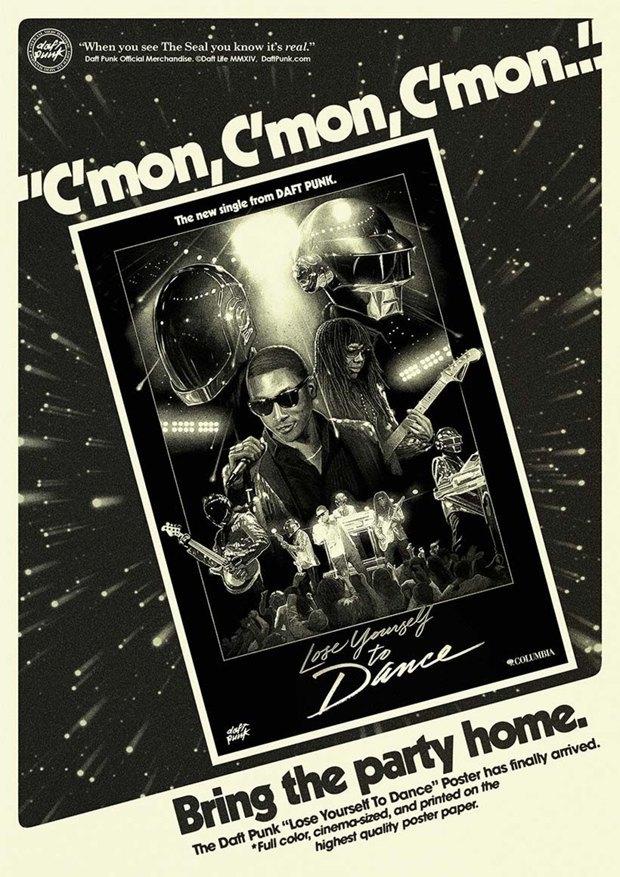 Daft Punk прорекламировали свой мерч на ретро-постерах. Изображение № 2.