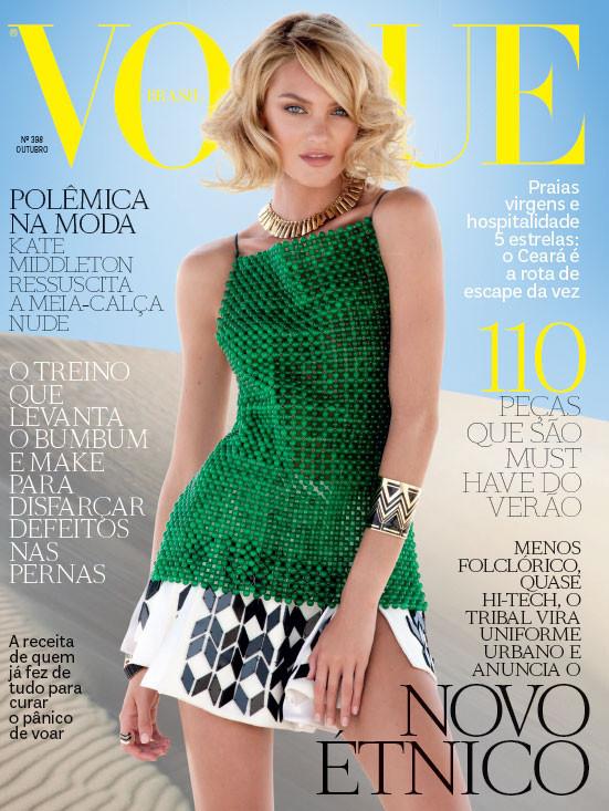 Обложки Vogue: Карен Элсон для итальянского и Кэндис Свейнпол для бразильского. Изображение № 2.