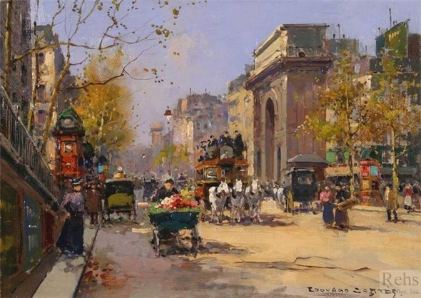 Эдуард Леон Кортес. Перенесёмся в Париж. Изображение № 16.