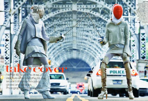 Быстрее, выше, сильнее: Модные съемки, вдохновленные спортом. Изображение №31.