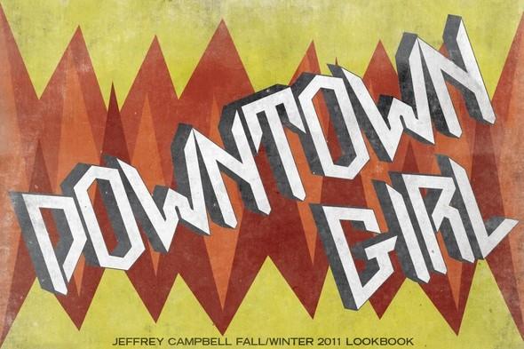 Down Town Girl. Lookbook осенне-зимней коллекции Jeffrey Campbell. Изображение № 1.