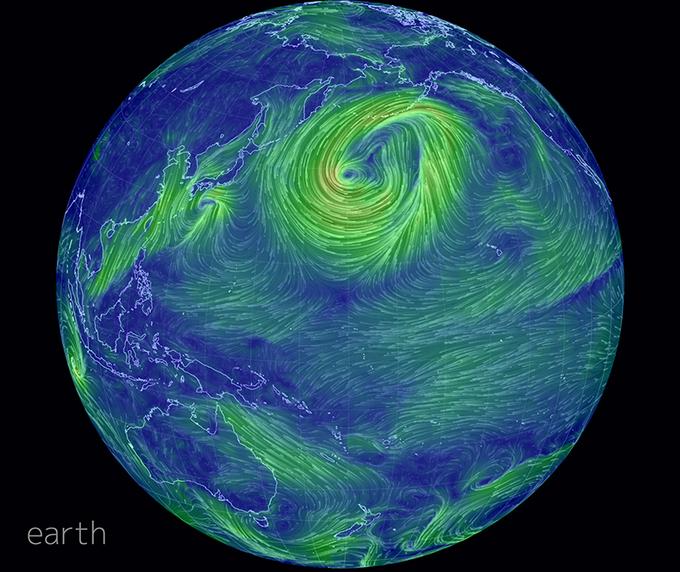 Создана интерактивная карта ветров земли . Изображение № 1.