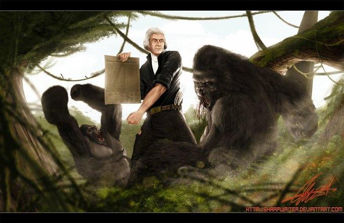Американские президенты изображены героями игр. Изображение № 6.