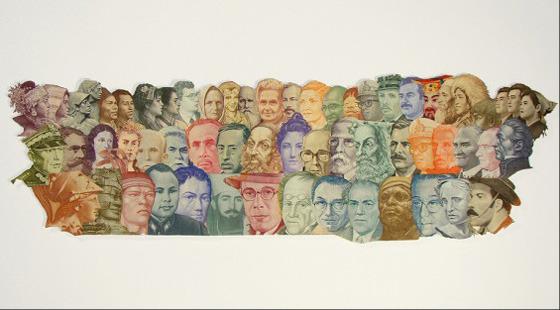 Картины и коллажи из денег Родриго Торреса. Изображение № 7.