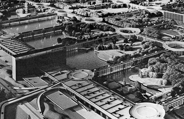 Как в XX веке представляли себе города будущего. Изображение № 5.
