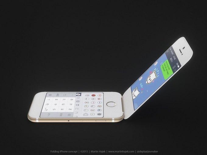 Дизайнер создал концепт раскладного iPhone 6 . Изображение № 6.