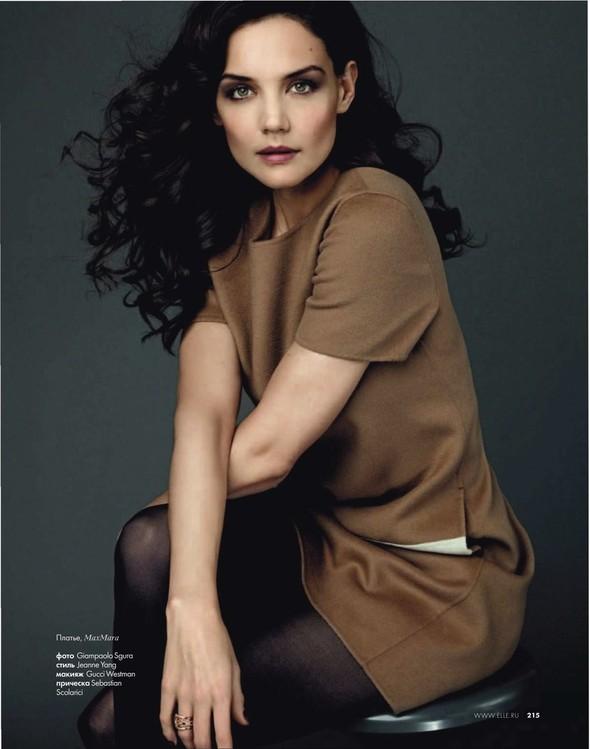 Съёмка: Кэти Холмс для Elle. Изображение № 5.