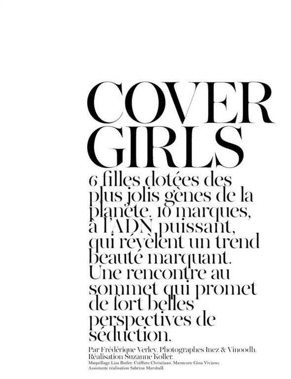 Съёмка: Аризона Мьюз, Каролина Куркова, Наташа Поли и другие для французского Vogue. Изображение № 1.