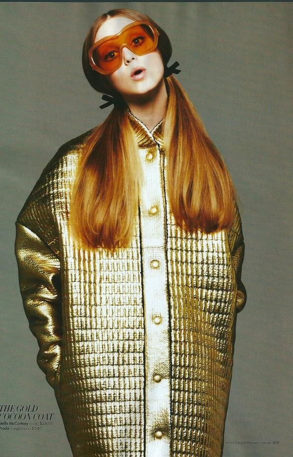 Съёмка: Джемма Бейнес для Harper's Bazaar. Изображение № 4.