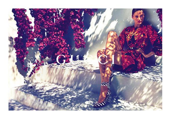 Karmen Pedaru и Lenz von Johnston для рекламы Gucci Cruise 2012. Изображение № 4.