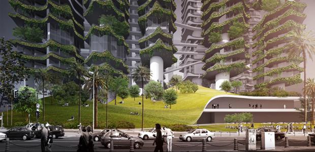 Архитектура дня: вертикальный квартал из 9небоскрёбов. Изображение № 3.