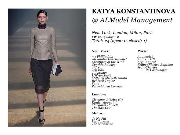 Al Model Management: Сезон показов осень-зима 12.13. Изображение № 6.