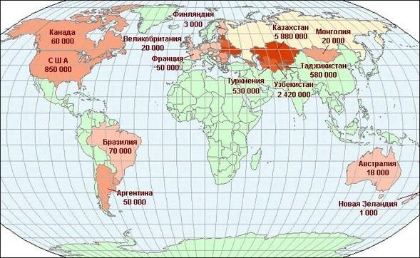 50 самых распространенных языков вмире. Изображение № 3.