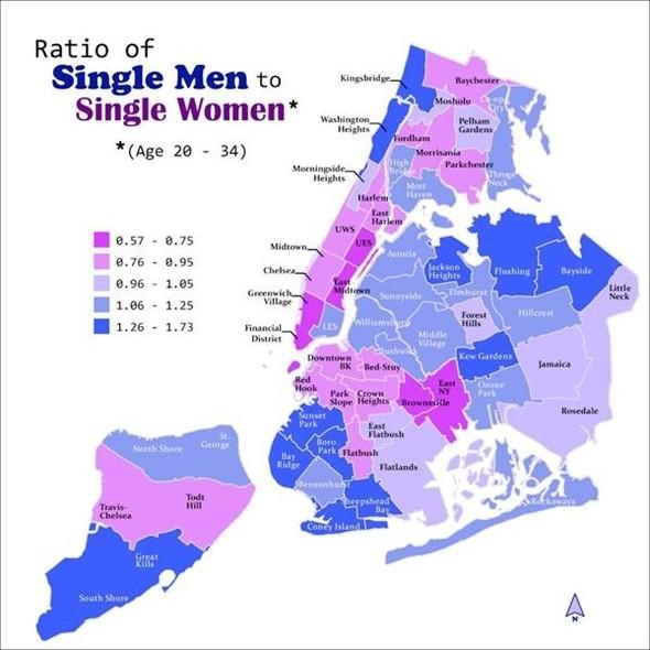 Карта одиноких сердец в Нью-Йорке. Изображение № 1.