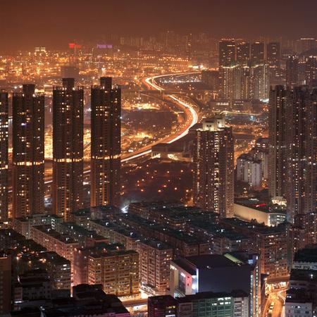 Мегаполисы ночью Гонконг, Дубаи, Нью-Йорк, Шанхай. Изображение № 5.