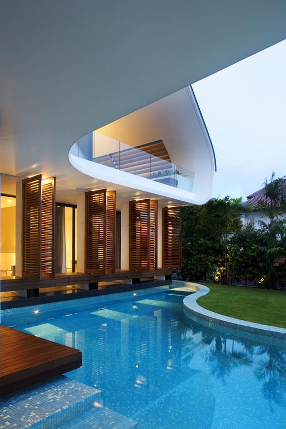 «Трехпалубная» вилла от Aamer Architects. Изображение № 14.