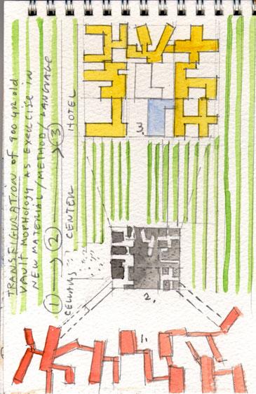 Архитектурные акварели стивена холла. Изображение № 21.