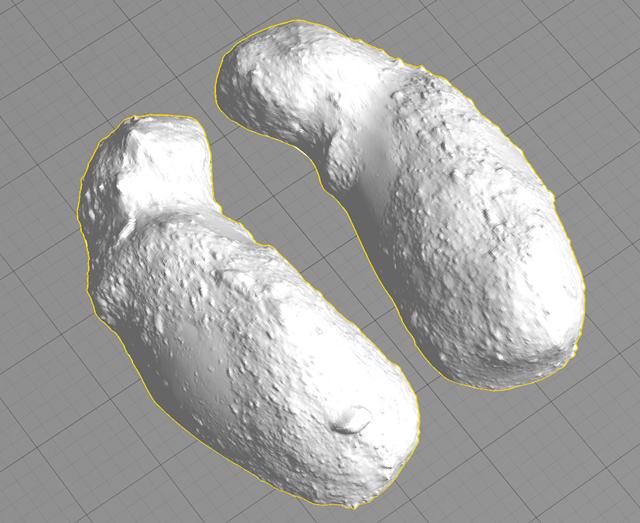 Две стороны астероида Итокава. Изображение № 5.