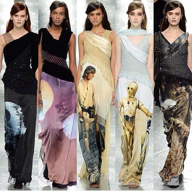 В Нью-Йорке представлена коллекция платьев по мотивам «Звёздных войн». Изображение № 1.