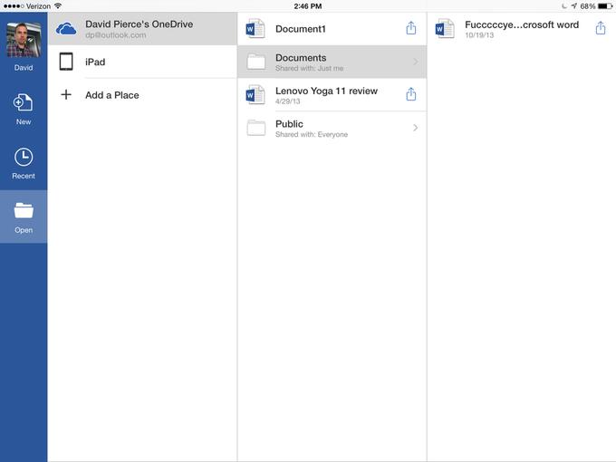 Microsoft выпустила Office для iPad . Изображение № 5.