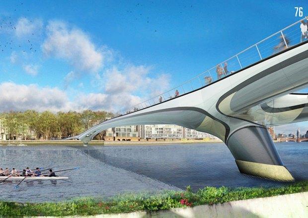 Выложены 74 проекта нового моста через Темзу. Изображение № 44.