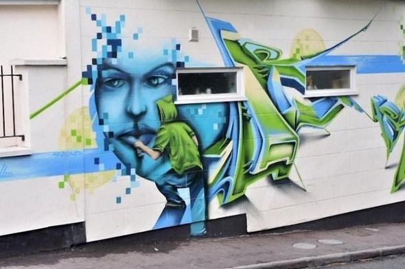 Изображение 23. Бристоль. Художественное граффити.. Изображение № 1.