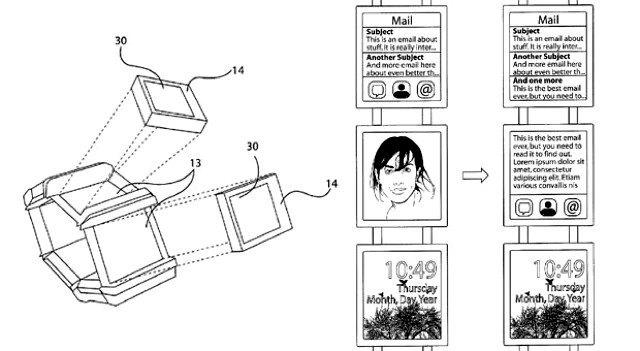 Nokia запатентовала носимый компьютер с шестью дисплеями. Изображение № 1.