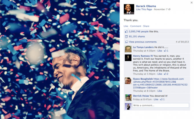 Названы самые популярные фото года в «Фейсбуке». Изображение №16.
