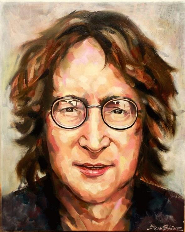 John Lennon Холст,масло. Изображение №1.