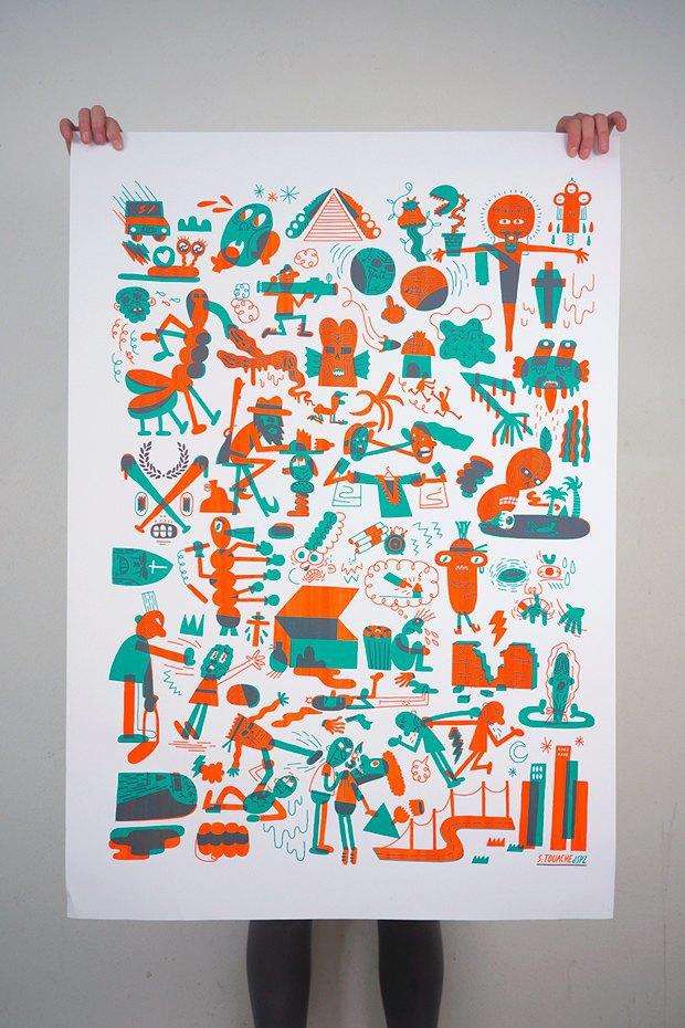 50 постеров, которые вдохновляют заняться шелкографией. Изображение № 45.