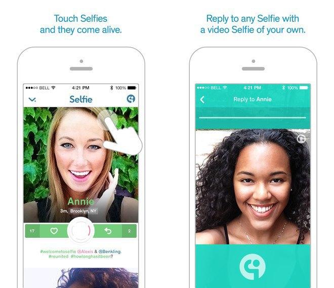 Приложение дня: мобильная соцсеть Selfie для общения видеоселфи. Изображение № 2.