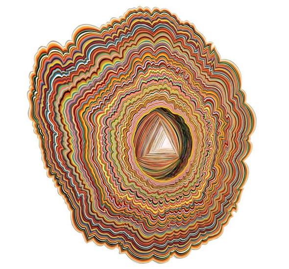 Объемные скульптуры из бумаги Jen Stark. Изображение № 16.