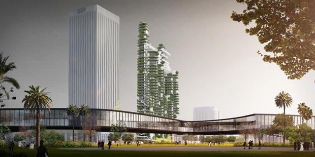 Архитектура дня: вертикальный квартал из 9небоскрёбов. Изображение № 2.