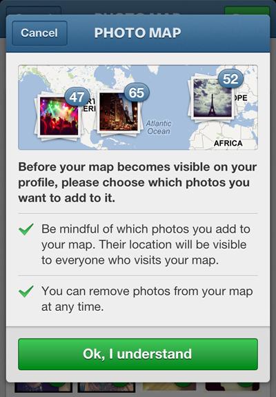 Фото на Instagram теперь можно привязывать к карте. Изображение №1.