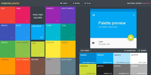 Сайт дня: вся палитра материального дизайна Google. Изображение № 1.
