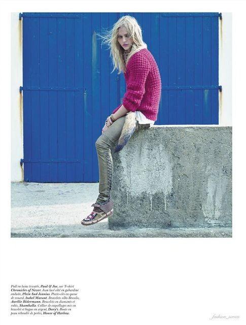 Съёмка: Саша Пивоварова и Наташа Поли для французского Vogue. Изображение № 8.