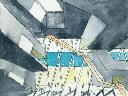 Архитектурные акварели стивена холла. Изображение № 19.