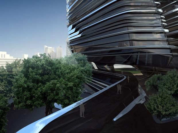 Заха Хадид проектирует университет дизайна в Гонконге. Изображение № 3.