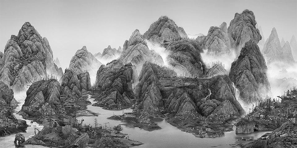 Мрачное будущее на коллаже китайского художника. Изображение № 1.