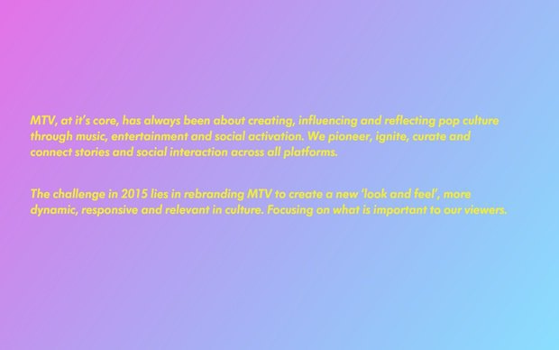 Слух: появился дизайн-бриф ребрендинга MTV. Изображение № 4.
